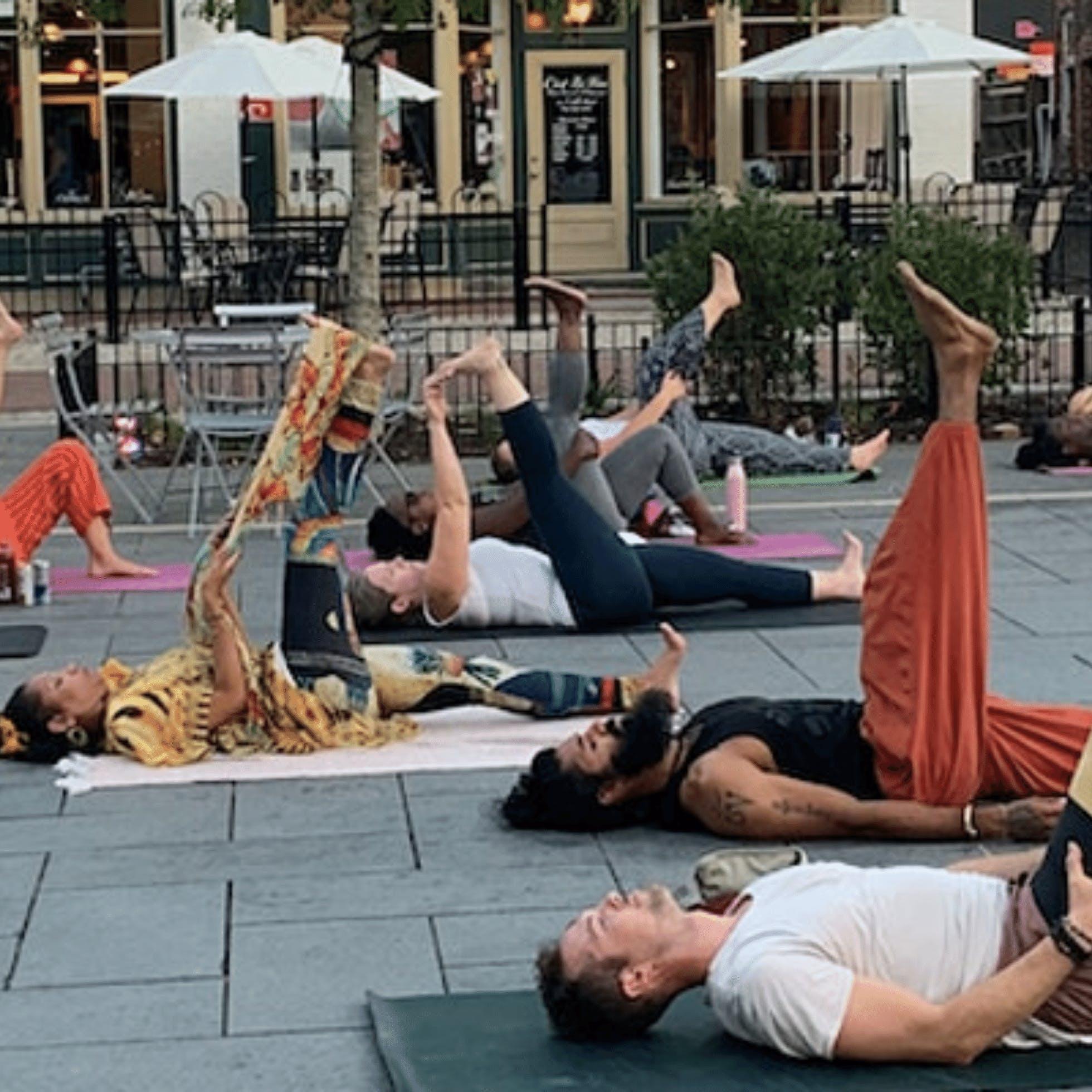 BareSOUL Community Yoga + Meditation at 17th Street Market