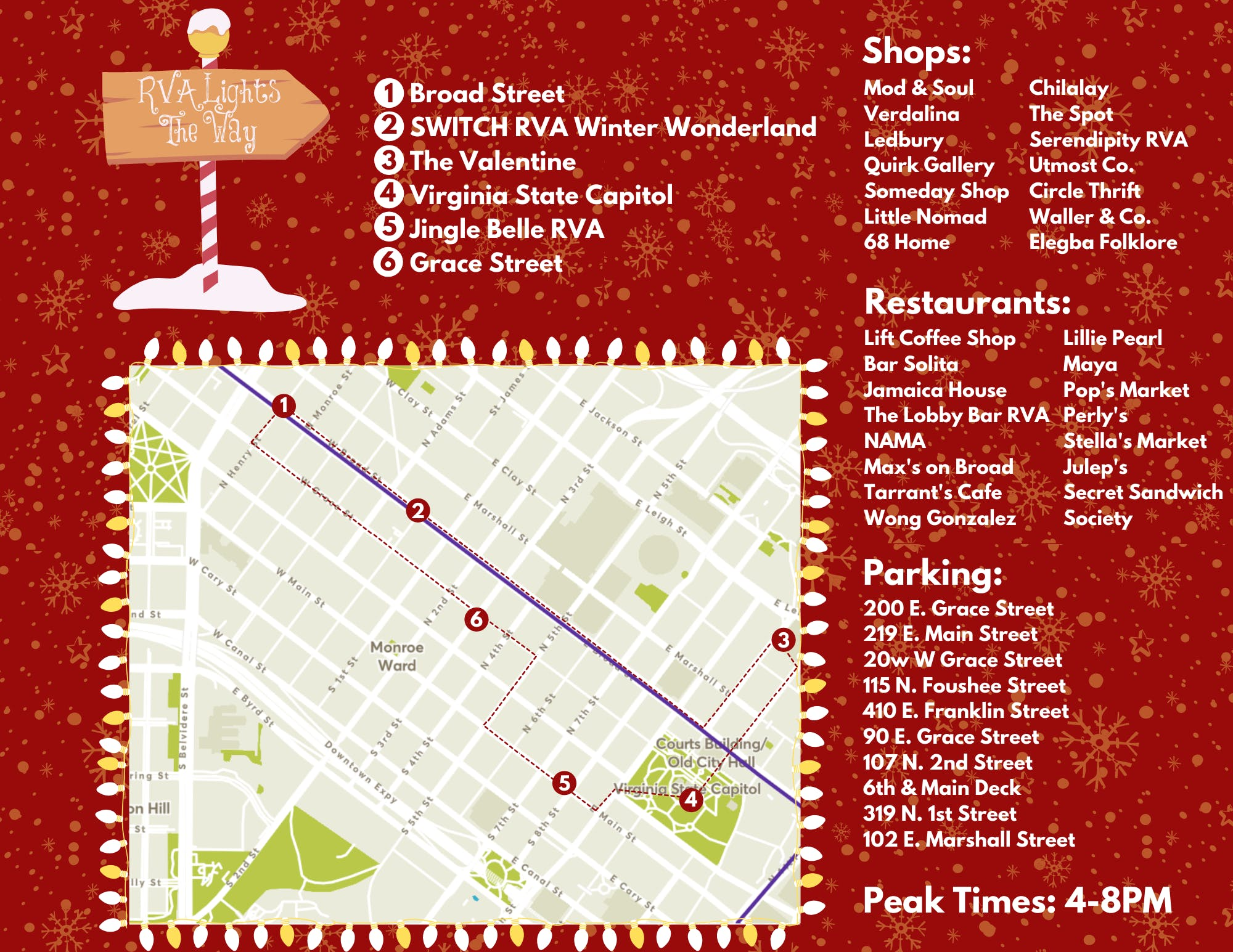 RVA Lights the Way: A Holiday Walking Tour of the Arts District
