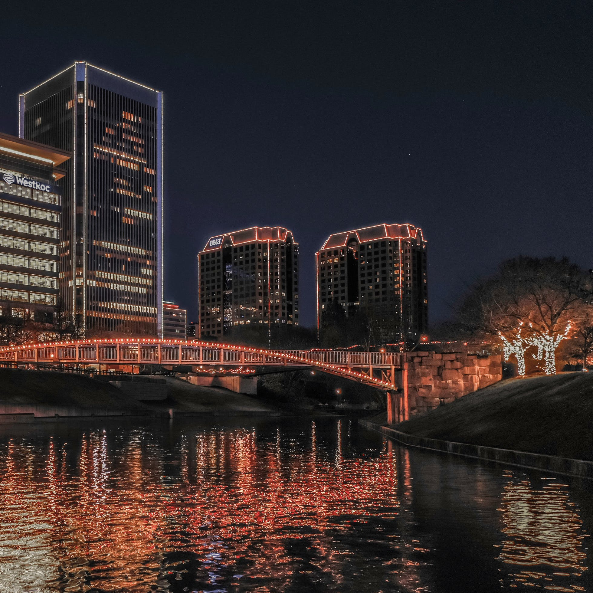 Holiday Lights on the Riverfront