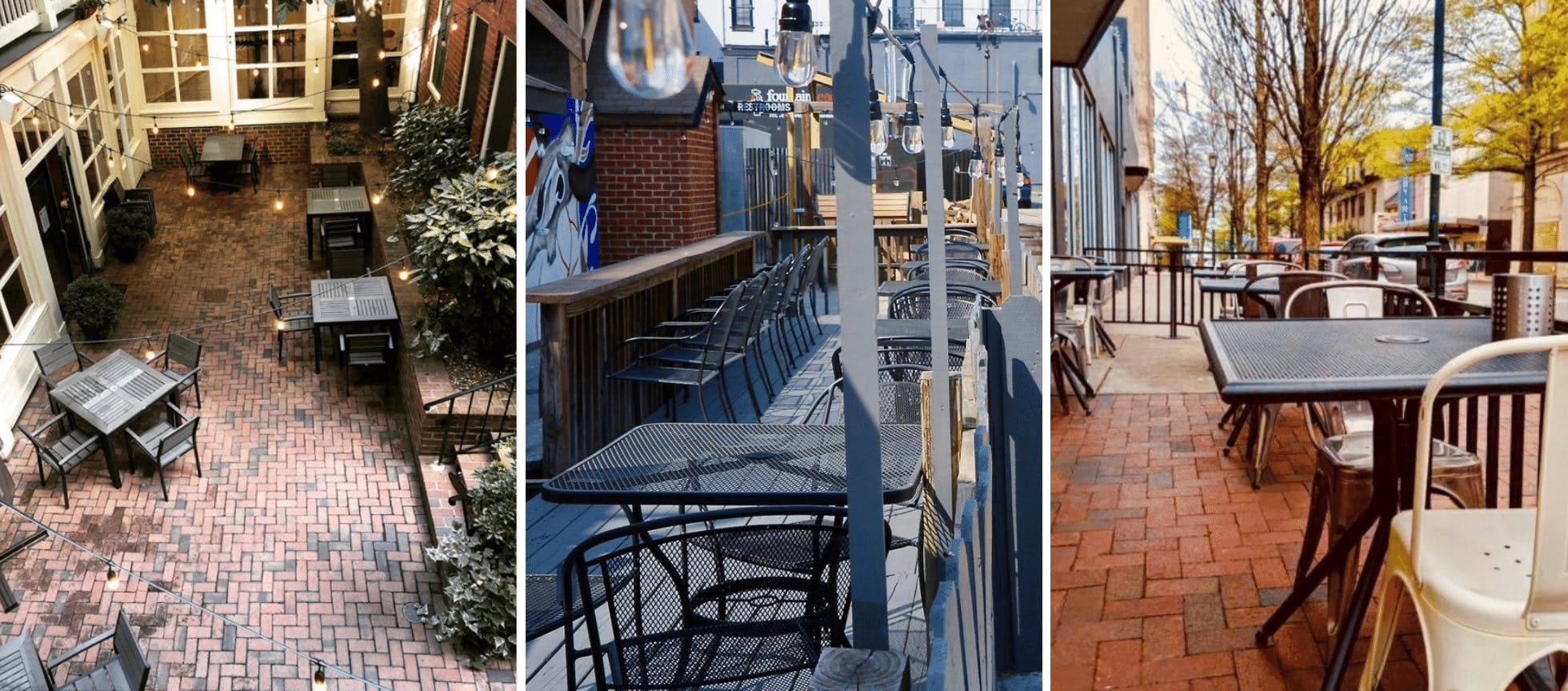 15 Restaurants for Outdoor Dining in Downtown Richmond