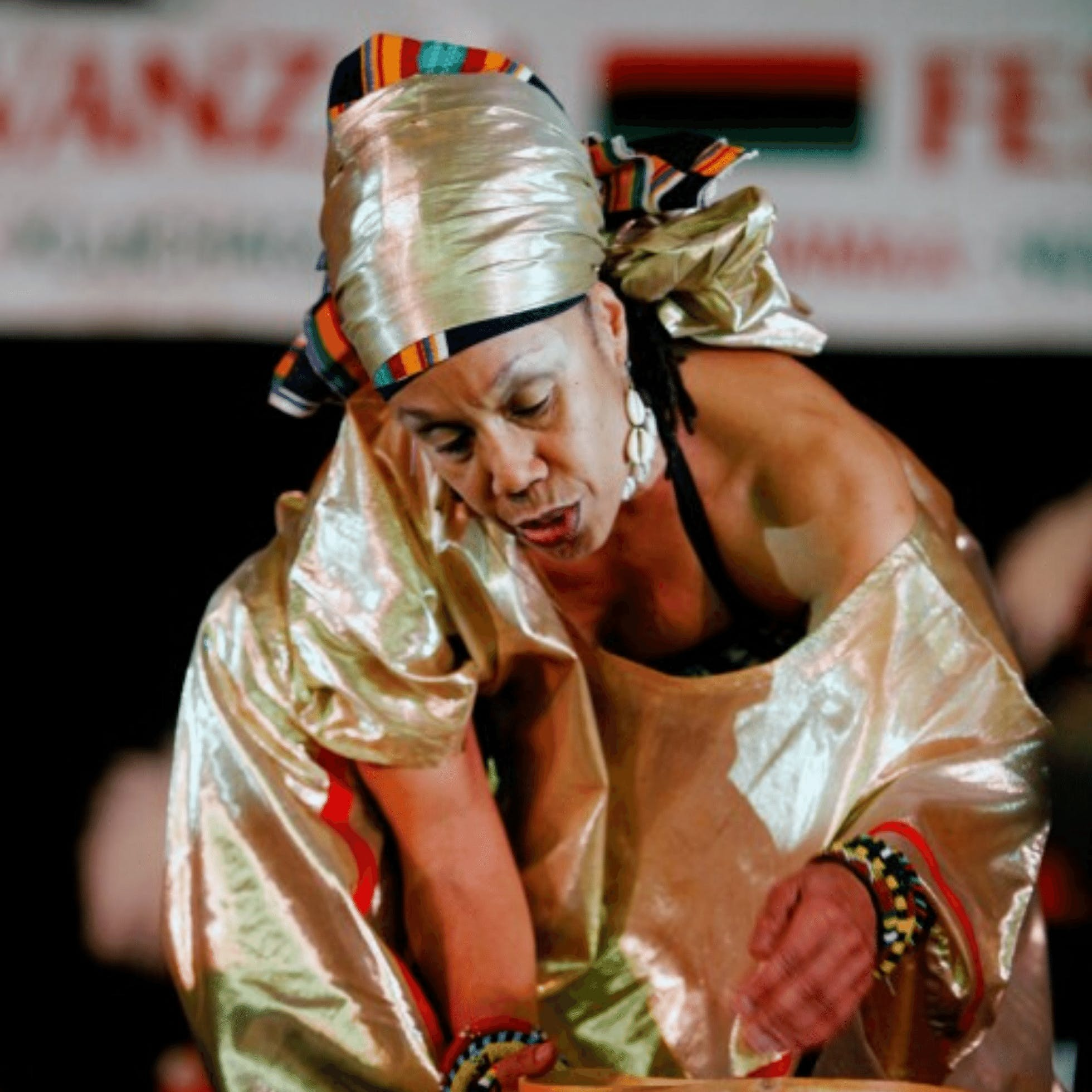 Janine Bell performing from Elegba Folklore Society in Richmond VA