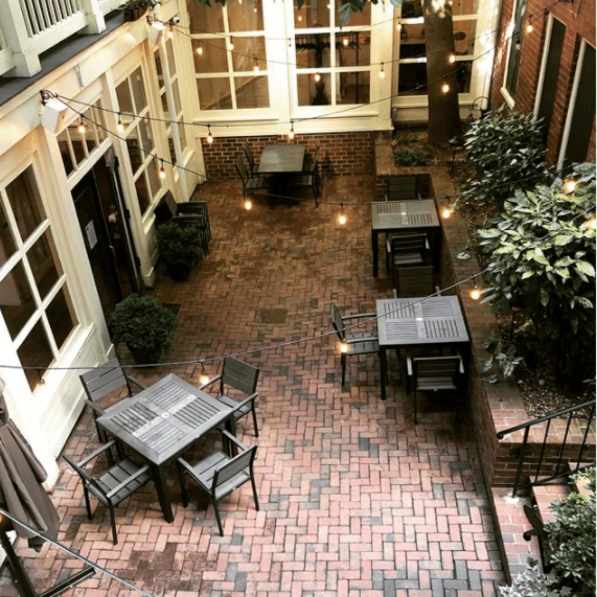 Parterre patio  - 15 Restaurants for Outdoor Dining in Downtown Richmond