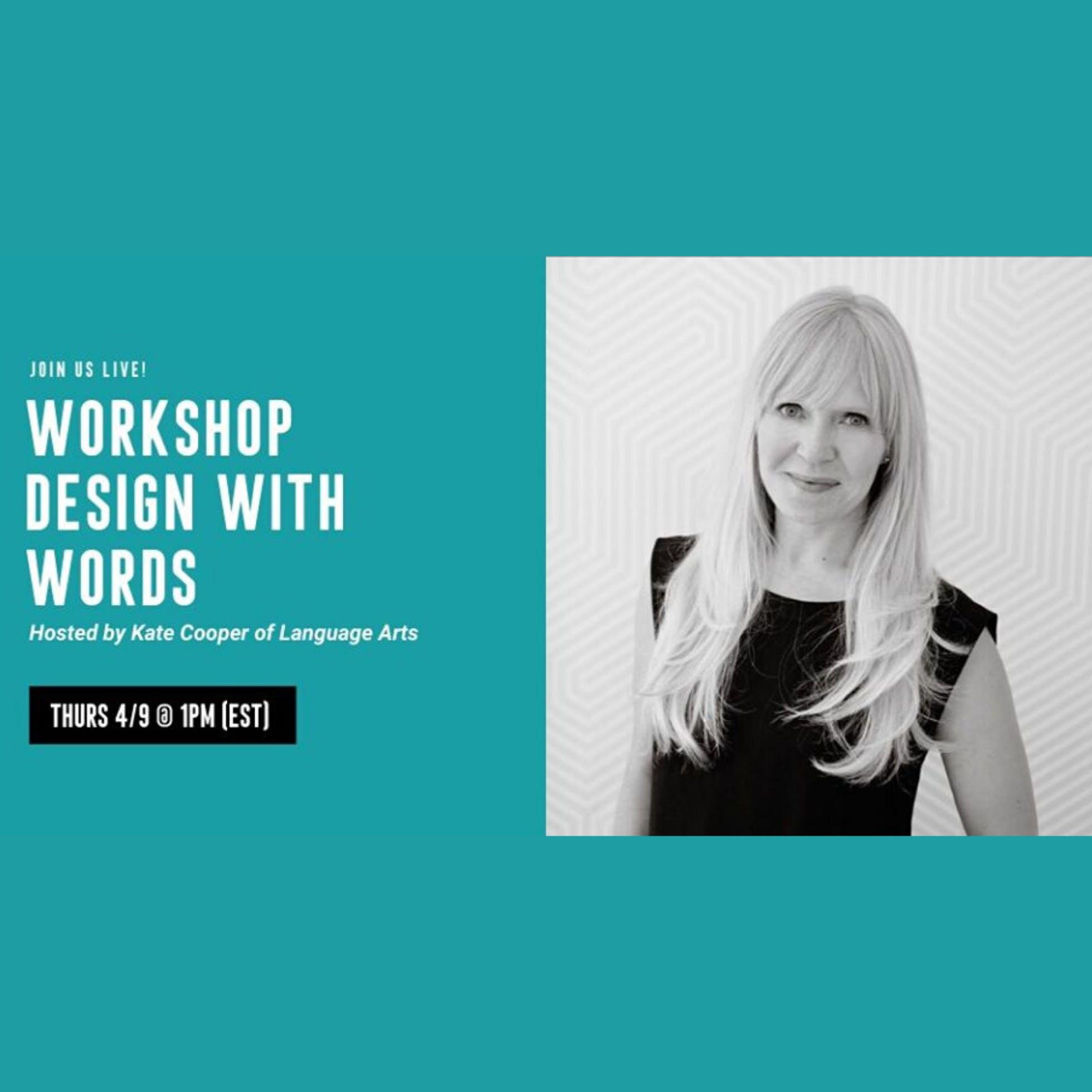 Rebelle Virtual Workshop: Design With Words