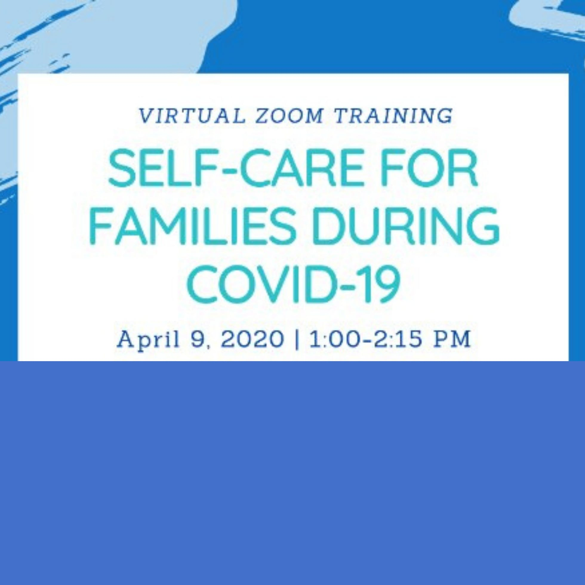 Self-Care For Families During COVID-19