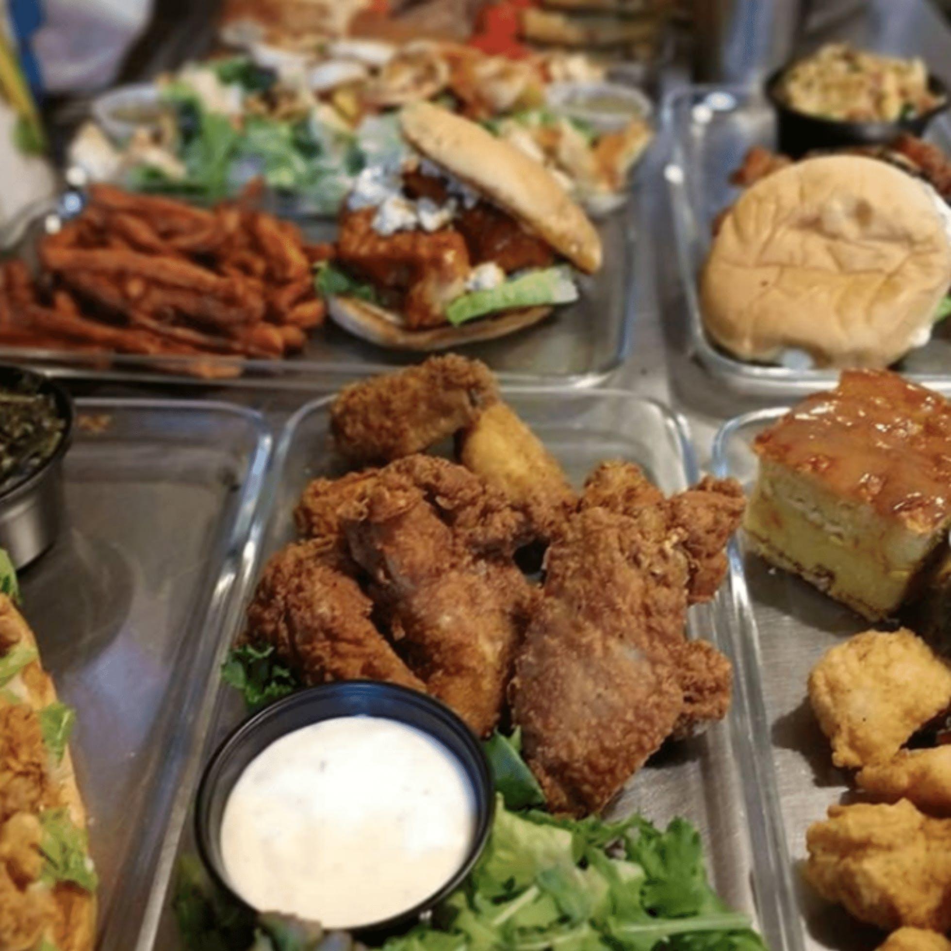 Fried Chicken, Cornbread, Sandwich, Fries from Big Herm's Kitchen in Richmond VA