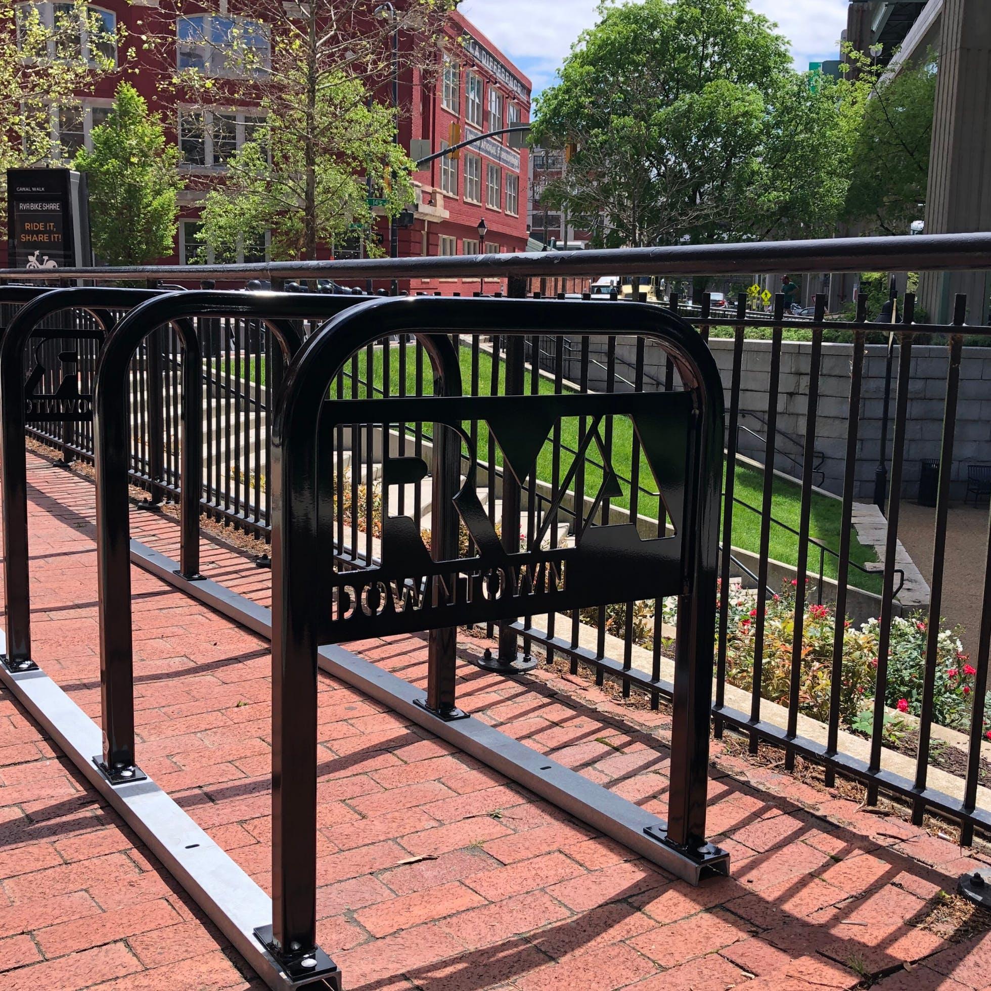 Downtown Richmond Bike Racks at Turning Basin