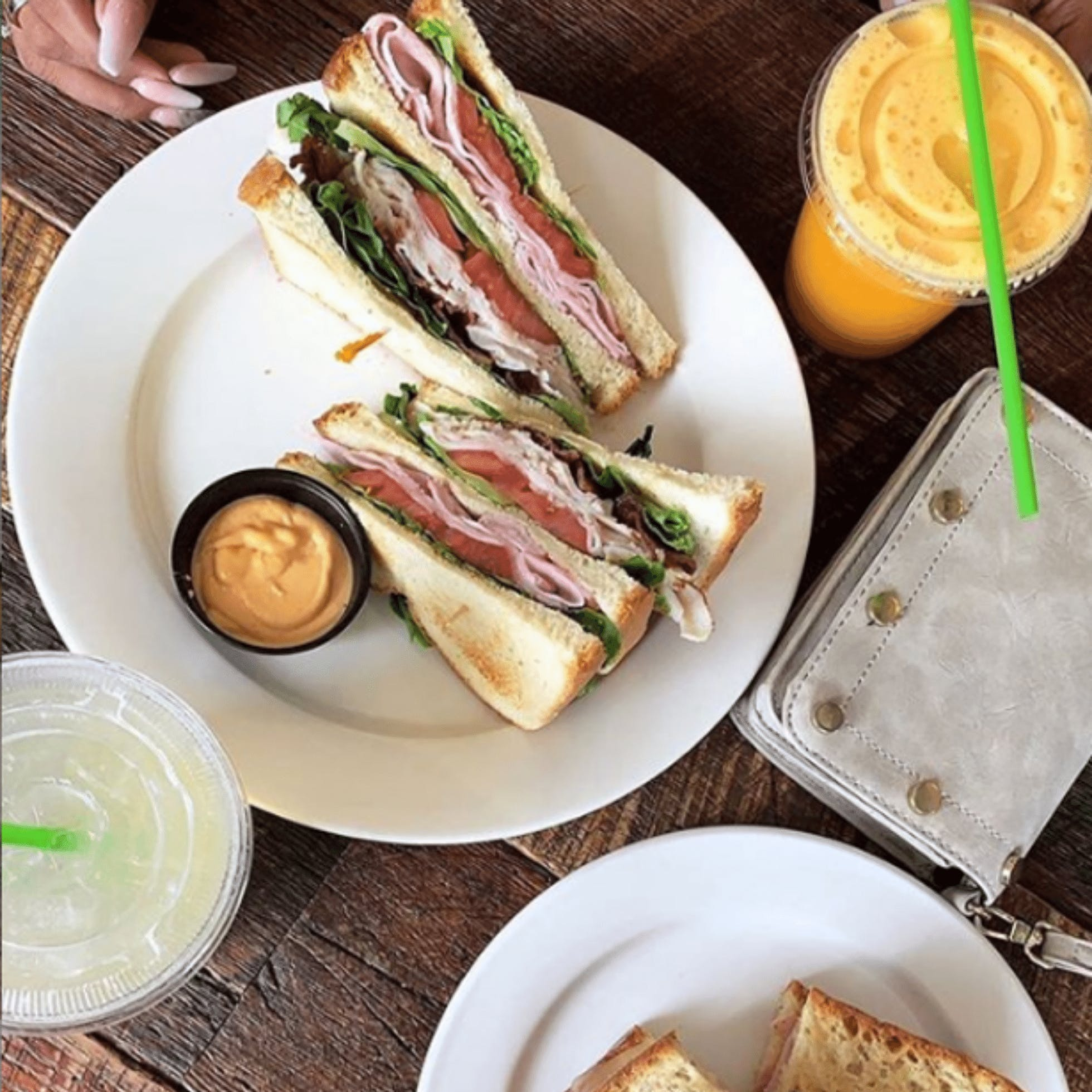 Sandwich and smoothie from Brewer's Cafe in Richmond VA