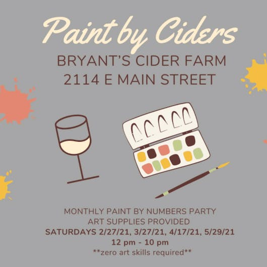 Paint by Ciders at Bryants Cider RVA on April 17th 2021